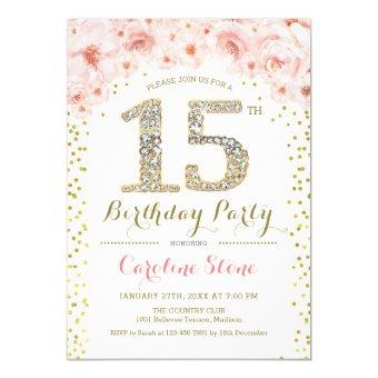 15th Birthday Party - White Gold Pink