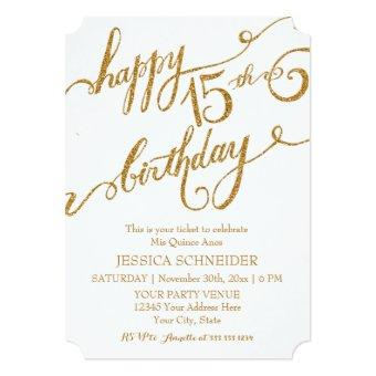 15th Mis Quince Anos, Birthday Ticket