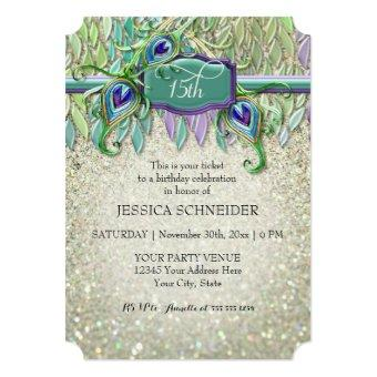 15th Fifteenth Birthday Party Ticket