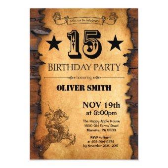 15th Western Birthday