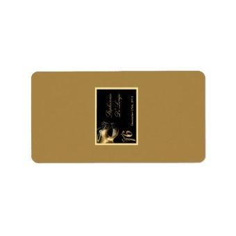 "1.25""x2.75"" Hershey's Miniature Sweet 16 Gold Label"