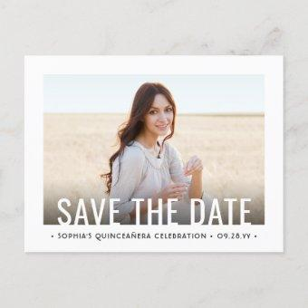 2 Photo Modern Birthday Save the Date Announcement Post