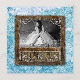 332 Vintage Photo Star Blue