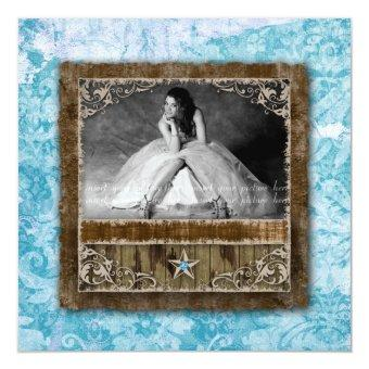 332 Vintage Photo Star Blue