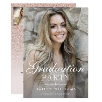4 Photo Trendy Pink Graduation Party Celebration