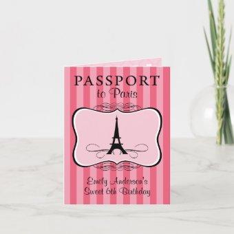6th Birthday Passport