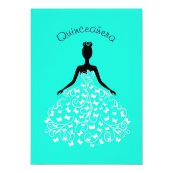 Aqua Butterfly Ball Gown