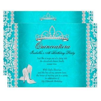 Aqua 15th Birthday Tiara High Heels