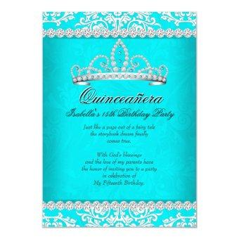 Aqua Teal 15th Birthday Party Tiara