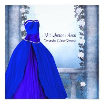 Ball Gown Royal Navy Blue Rose