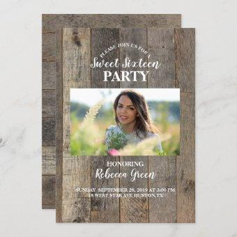 barn wood western country Sweet sixteen party