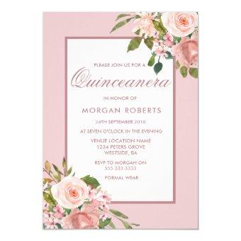 Beautiful Blush Flowers Party Invite