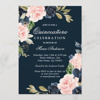 Beautiful Blush & Navy Elegant Party