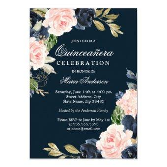 Beautiful Blush & Navy Elegant Party
