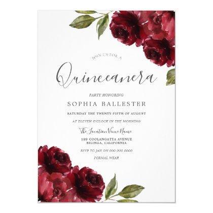 Beautiful Elegant Burgundy Red Flowers