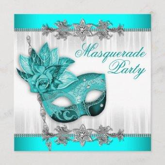 Beautiful Turquoise Blue Masquerade Party