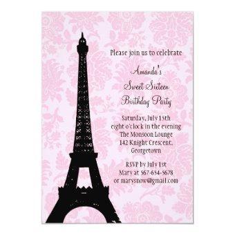 Birthday in Paris Sweet Sixteen