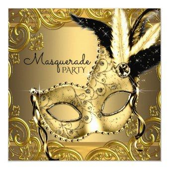 Black and Gold Masquerade Party