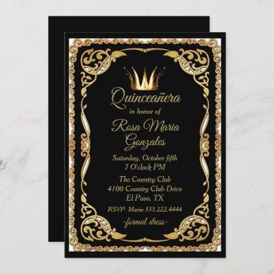 Black and Gold with Crown