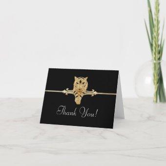 Black Gold Leopard Thank You