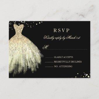Black Gold Sparkle Dress RSVP