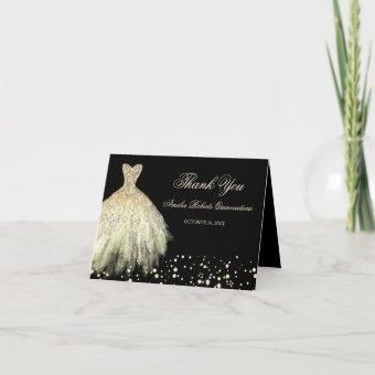 Black Gold Sparkle Dress Thank You