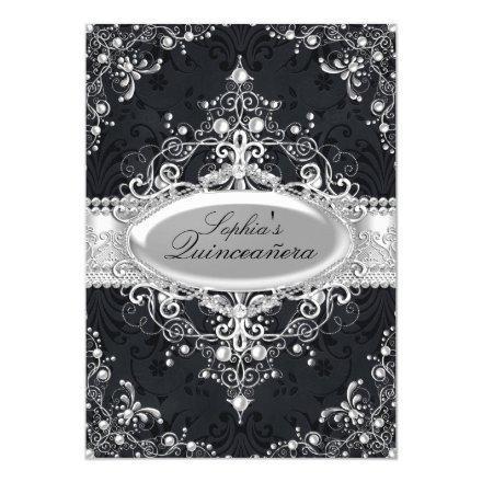 Black & Silver Pearl Vintage Glamour