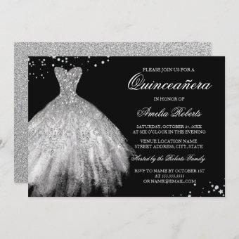 Black Silver Sparkle Dress