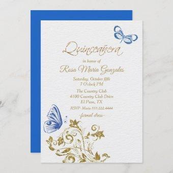 Blue Butterflies Chic