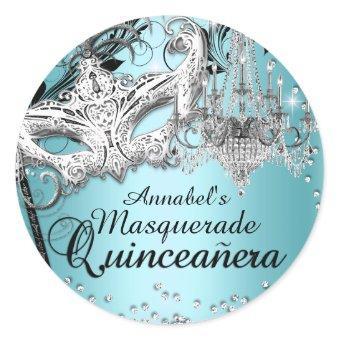 Blue Chandelier Masquerade Sticker