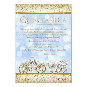 Blue Gold Cinderella Princess