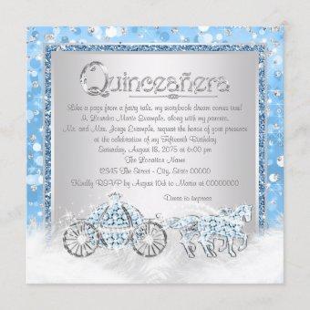 Blue Silver Cinderella Princess