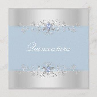Blue & Silver Snow Gem Invite