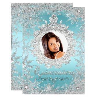 Blue Silver Tiara Snowflake Sparkle