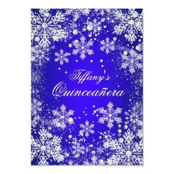 Blue Snowflake Winter Wonderland