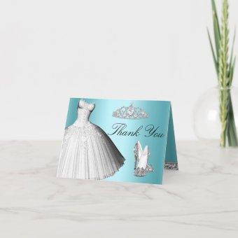Blue Sparkle Glitter Dress & Heels Thank You