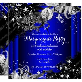 Blue Sparkle Magical Night Masquerade Party