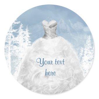 Blue White Winter Stickers