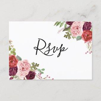 Blush & Burgundy Flowers All Occasions RSVP