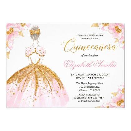 Blush pink and gold princess