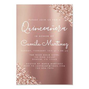 Blush Pink - Rose Gold Glitter Party