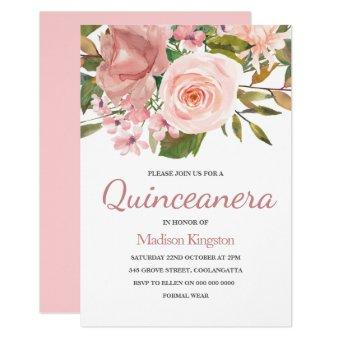 Blush Pink Rose Gold Party Invite