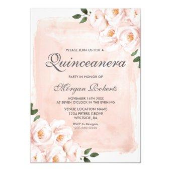 Blush Pink Watercolor Flowers Party