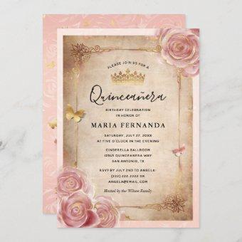 Blush Pink Watercolor Rose Gold