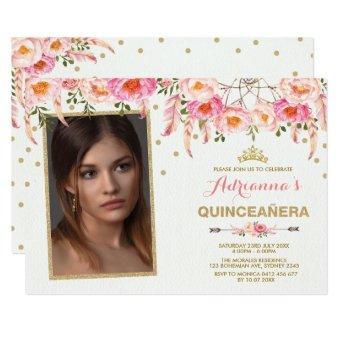 Boho Floral Tiara Dreamcatcher / Girly Quinceañera