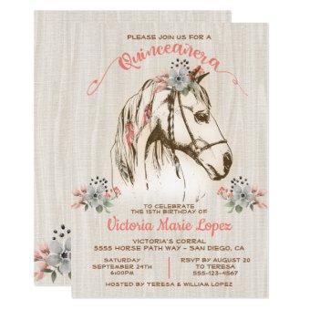 Boho Horse Cowgirl Quinceañera 15th Birthday