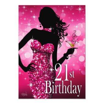Bring the Bling Sparkle 21st Birthday | fuschia