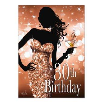 Bring the Bling Sparkle 30th Birthday | bronze