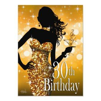 Bring the Bling Sparkle 30th Birthday | gold