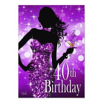 Bring the Bling Sparkle 40th Birthday | purple